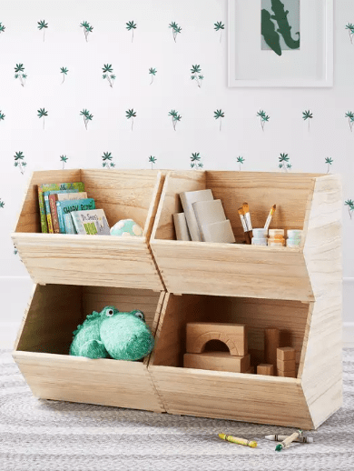 Wood Toy Storage